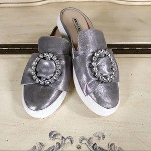 Karl Lagerfeld Sneakers Silver Bow Rhinestone 6.5